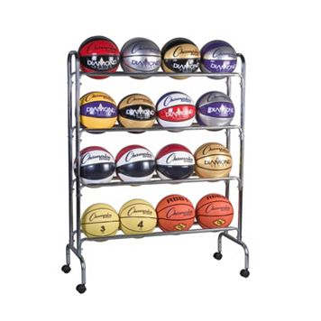 Champion Sports 16-Ball Basketball Cart