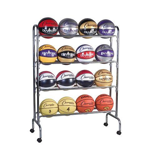 Champion Sports 16-Ball Basketball Cart
