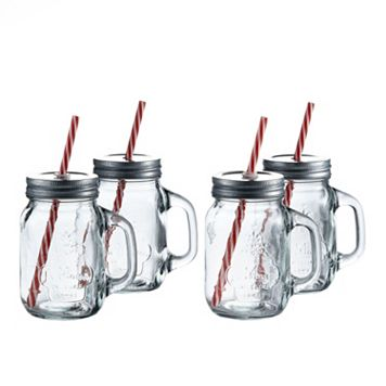Style Setter SoHo La Maison 4-pc. Lidded Mason Jar Glass Set