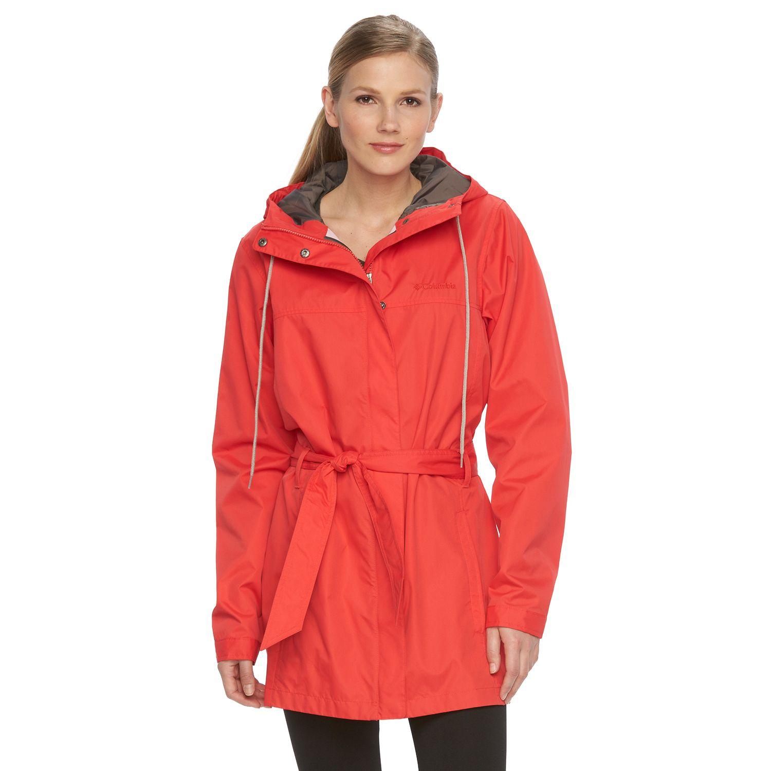 Womens Columbia Spring Run Hooded Trench Jacket