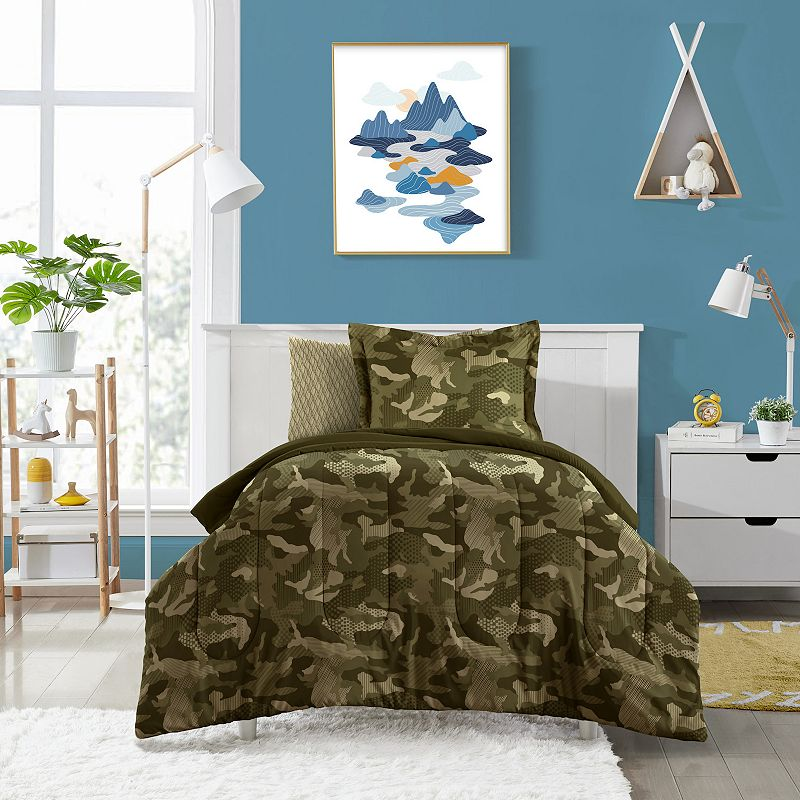 Dream Factory Camouflage Bed Set, Green