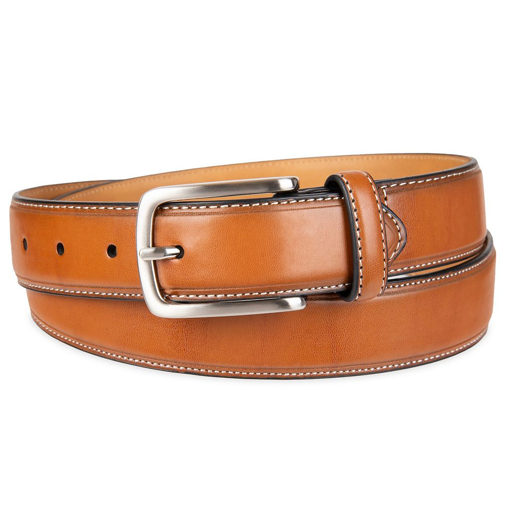 Men's Croft & Barrow® Feather Edge Stitched Casual Belt