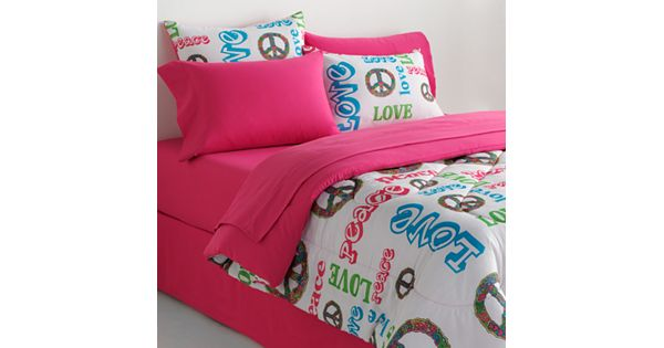 Veratex Peace Amp Love Reversible Comforter Set