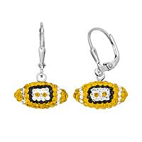 Missouri Tigers Crystal Sterling Silver Football Drop Earrings
