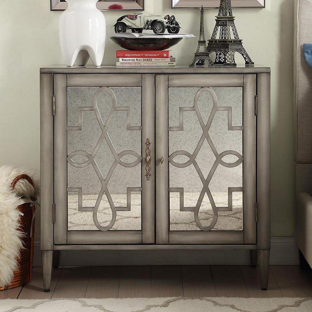 HomeVance Palomitto Mirrored Cabinet