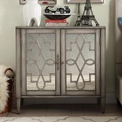 HomeVance Palomitto Mirrored Cabinet