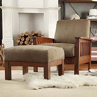 HomeVance Ryder Microfiber 2-piece Chair and Ottoman Set