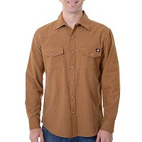 Men's Dickies Solid Flannel Shirt