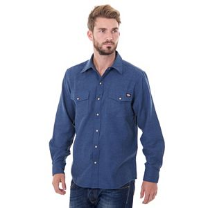 Men's Dickies Solid Flannel Shirt