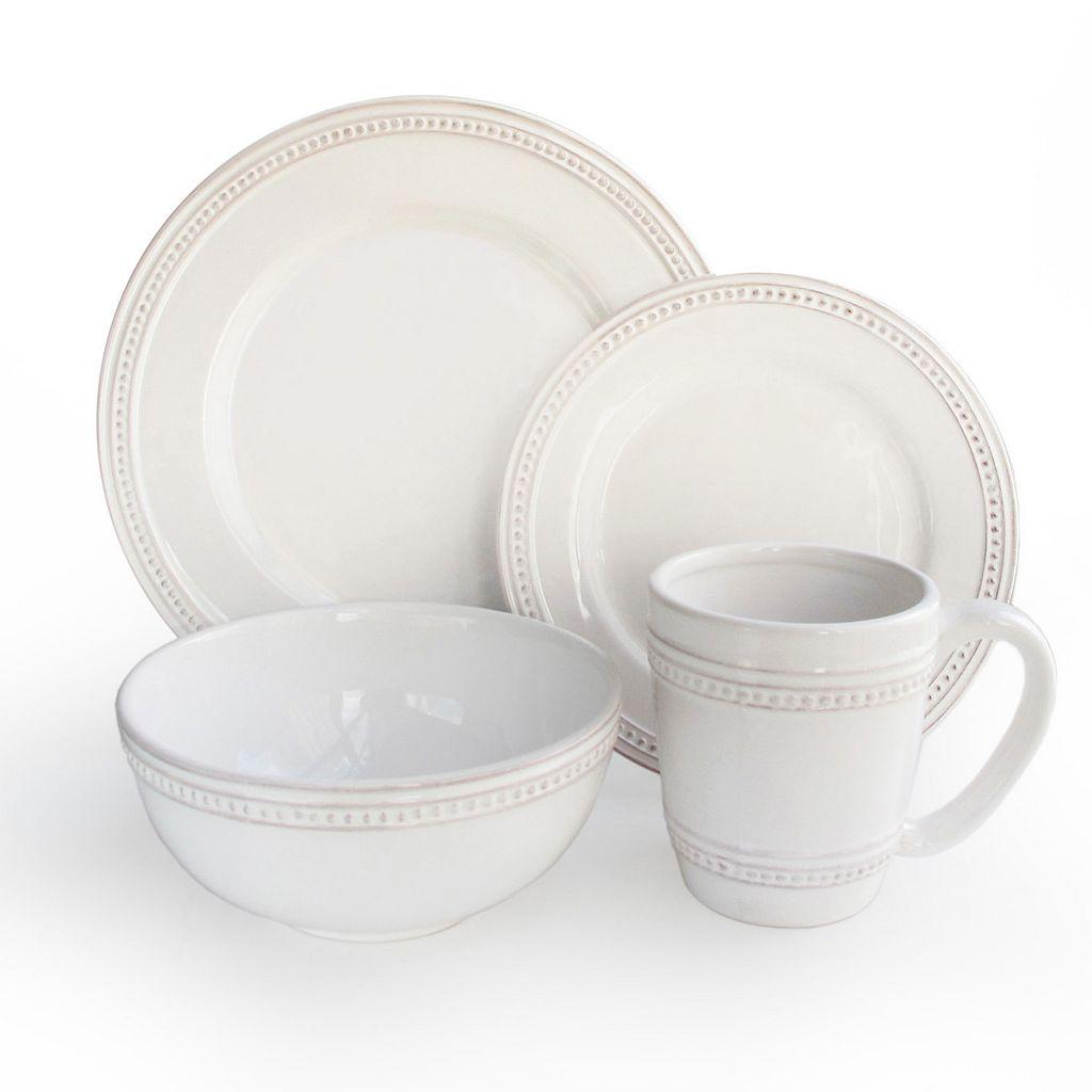 American Atelier Bianca Dots 16-pc. Dinnerware Set