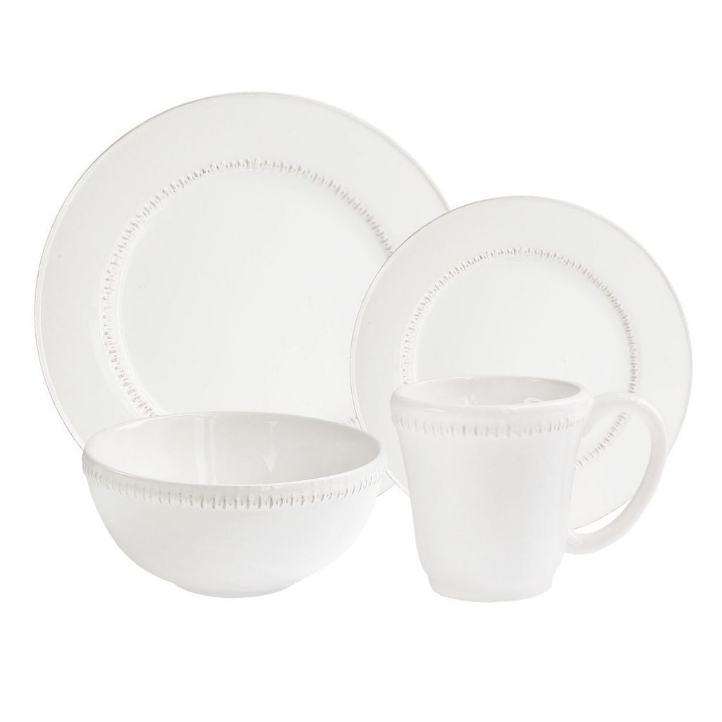 American Atelier Bianca Dash 16-pc. Dinnerware Set