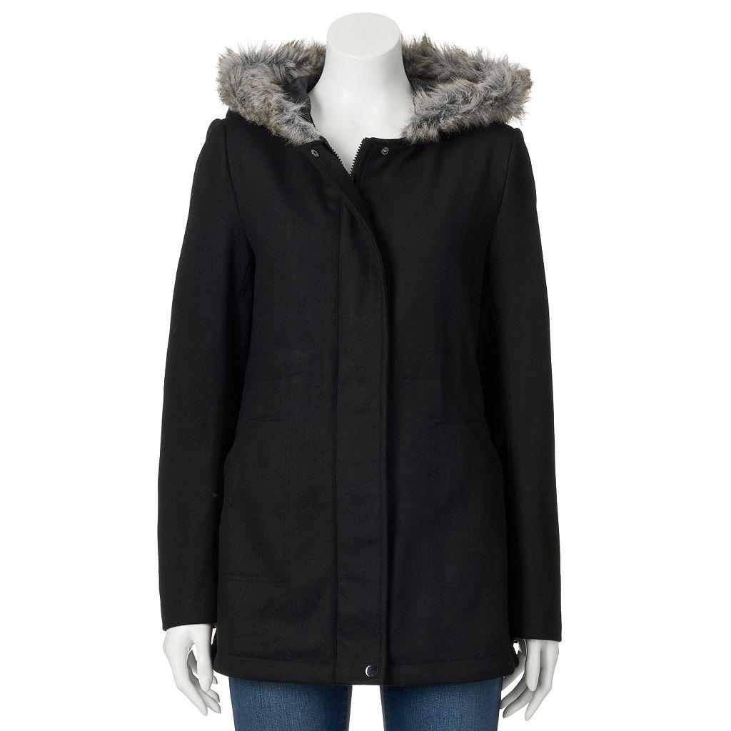 Women's Krush Hooded Faux-Wool Anorak Jacket