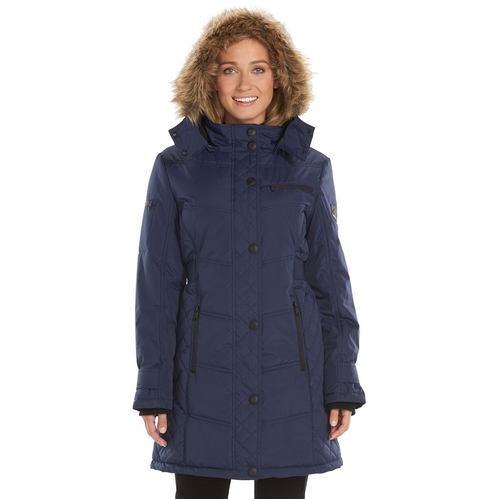 Women's Hemisphere Hooded Quilted Storm Coat