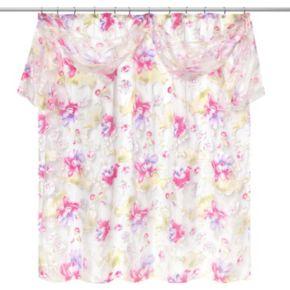Popular Bath Flower Haven Fabric Shower Curtain