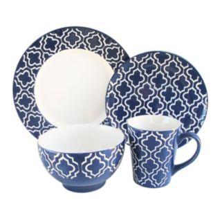 American Atelier 16-pc. Quatrefoil Dinnerware Set