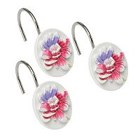 Popular Bath Flower Haven 12-pk. Shower Curtain Hooks