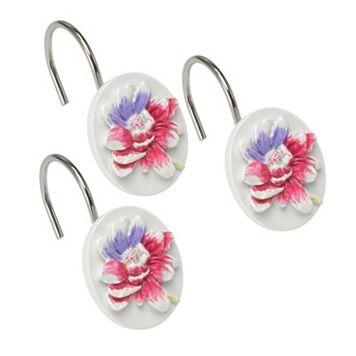 Popular Bath Flower Haven 12-pk. Shower Curtain Hooks
