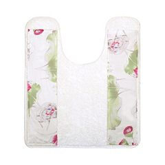 Popular Bath Flower Haven Contour Bath Rug