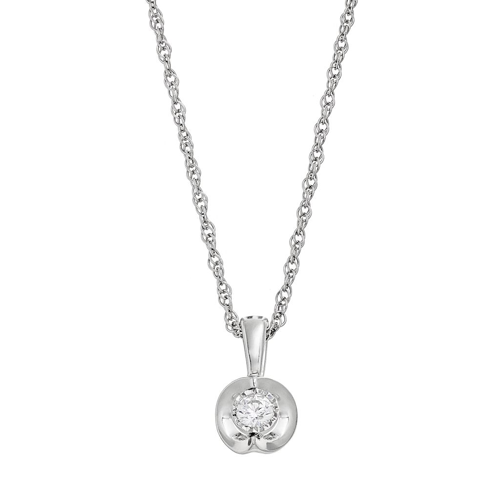 1/10 Carat T.W. Diamond Sterling Silver Pendant Necklace