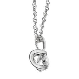 1/10 Carat T.W. Diamond Sterling Silver Pendant Necklace