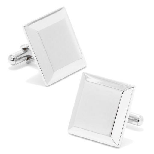 Square Beveled-Edge Cuff Links