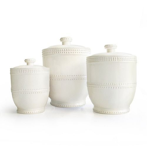 American Atelier Bianca Bead 3-pc. Kitchen Canister Set