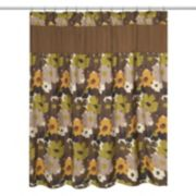 Popular Bath Floral Bouquet Fabric Shower Curtain