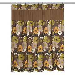 Popular Bath Floral Bouquet Fabric Shower Curtain