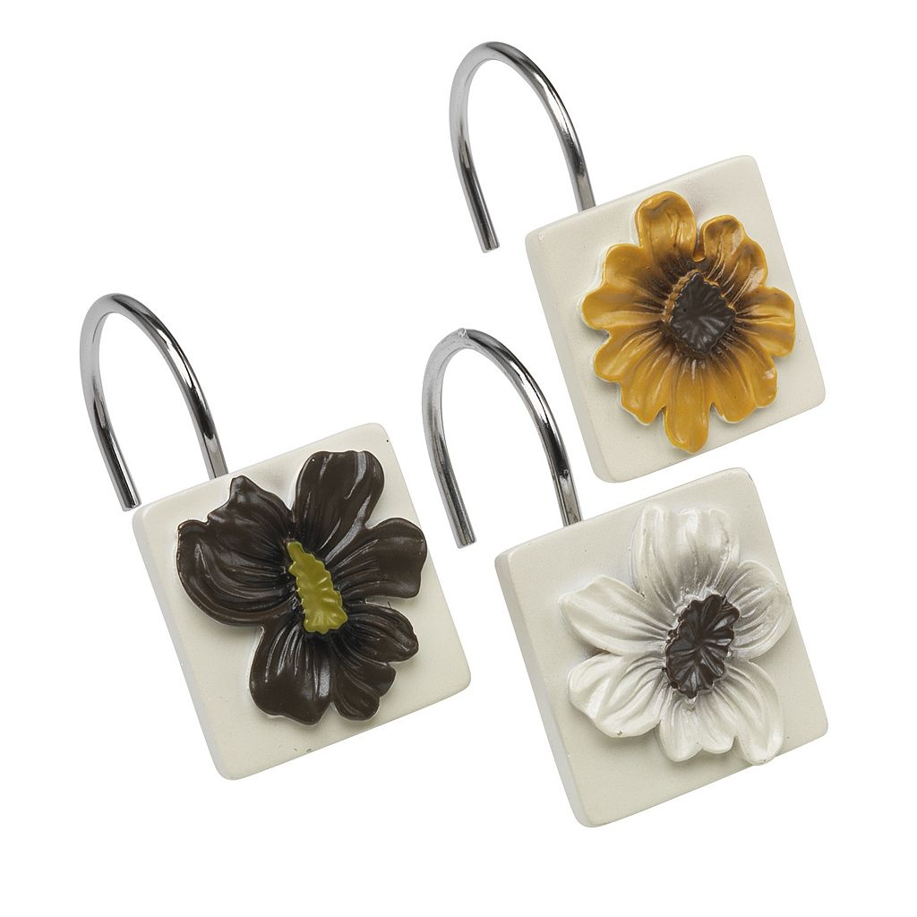 Popular Bath Floral Bouquet 12-pk. Shower Curtain Hooks
