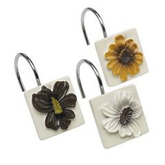 Popular Bath Floral Bouquet 12 pkShower Curtain Hooks