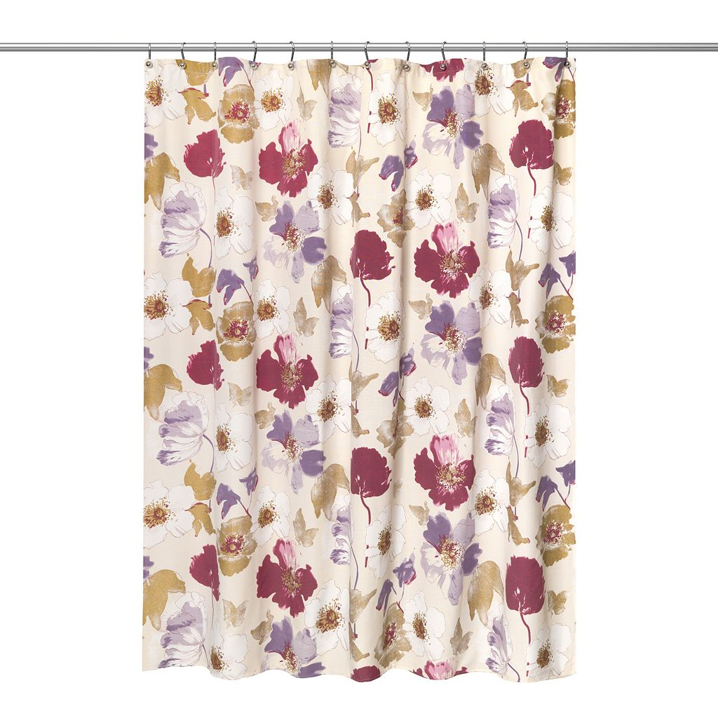 Popular Bath Dahlia Fabric Shower Curtain