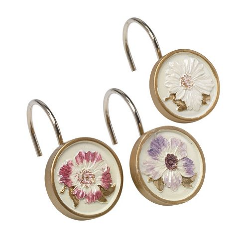 Popular Bath Dahlia 12-pk. Shower Curtain Hooks