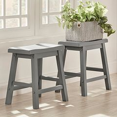 HomeVance Reagan 2-piece Saddle Stool Set