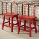 HomeVance Reagan 2 pc Saddle Stool Set
