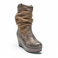 MUK LUKS Quinn Women's Wedge Boots
