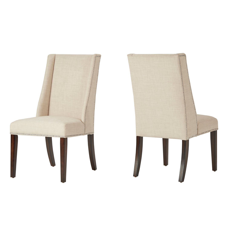 HomeVance Park Row 2 Piece Classic Wingback Chair Set