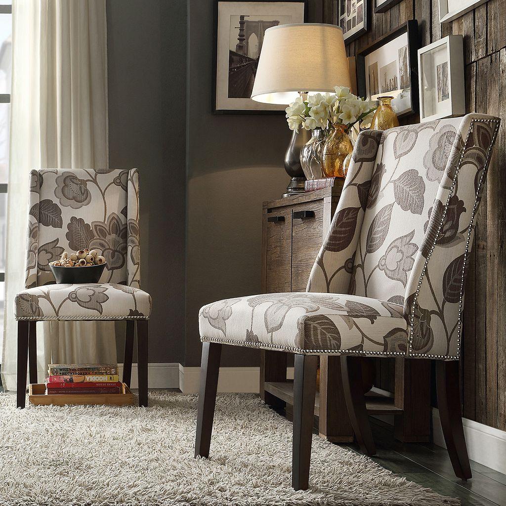 HomeVance Park Row 2-piece Wingback Chair Set