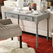 HomeVance Granton 2-Drawer Writing Desk