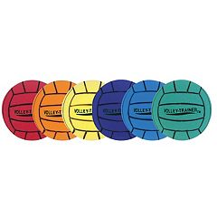 Champion Sports 6 pkUltra Foam Volleyball Set