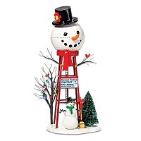 Department 56 Snowman Water Tower Village Decor