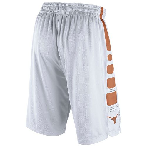 Men s Nike Texas Longhorns Elite Striped Basketball Shorts 52e1d81a7ba8