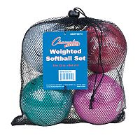 Champion Sports 4 pc 12 in Weighted Training Softball Set