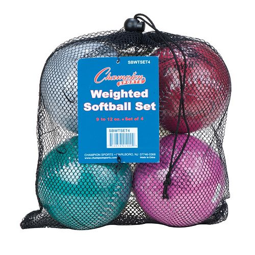 Champion Sports 4-pc. 12-in. Weighted Training Softball Set