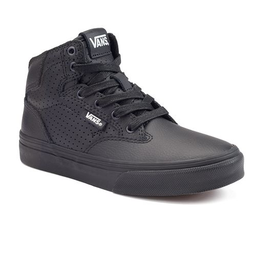 e4de46a10e Vans Winston Boys  High-Top Leather Skate Shoes