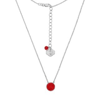 Ohio State Buckeyes Sterling Silver Crystal Disc Necklace