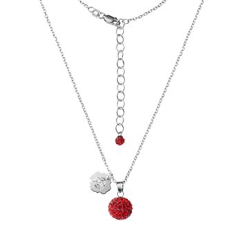Ohio state buckeyes crystal sterling silver team logo ball pendant ohio state buckeyes crystal sterling silver team logo ball pendant necklace aloadofball Image collections