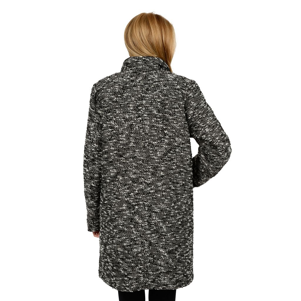 Excelled Boucle Faux-Wool Coat - Women's