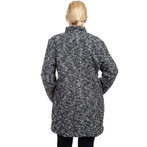 Plus Size Excelled Boucle Faux-Wool Coat