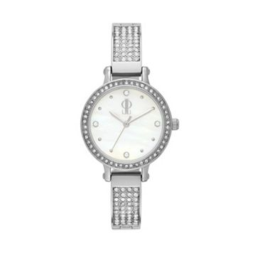 Jennifer Lopez Women's Lara Stainless Steel Half-Bangle Watch