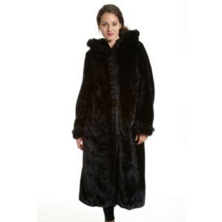 Women's Excelled Hooded Faux-Fur Walker Jacket